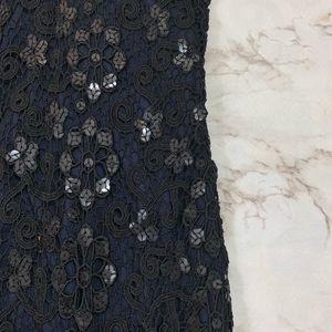 David Meister Dresses - David Meister Black Lace Halter Cocktail Dress